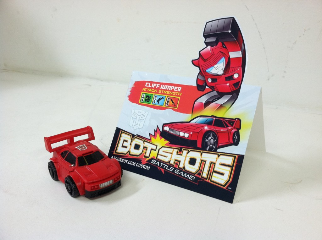 Bot Shots Cliffjumper custom with product card